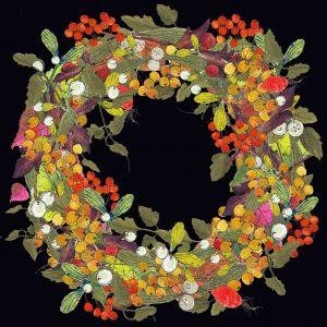 1424 Very BerryWreath Black