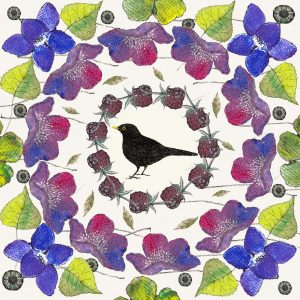 16038-blackbird-in-the-leaves