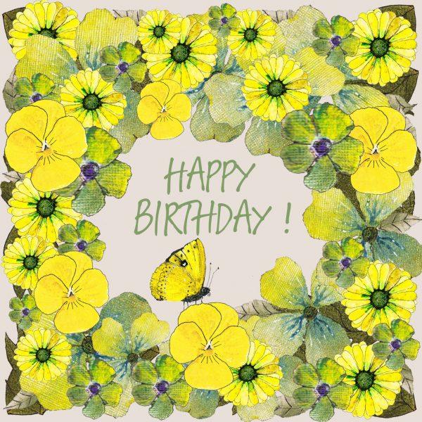 16062 Birthday Flowers Yellow 1