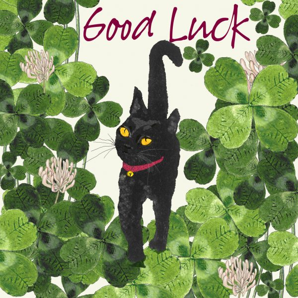 17011Lucky Cat in the Clover