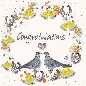 17019 Congratulations Love Birds
