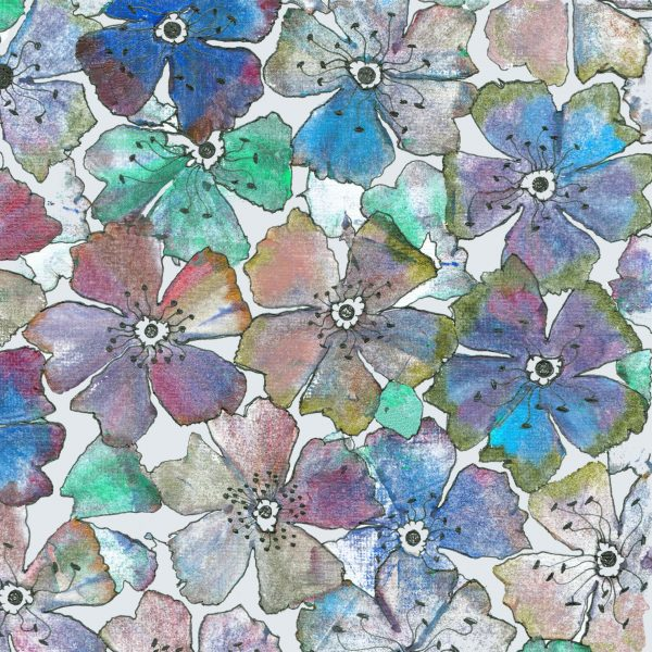 17021 Flowery Prints Blue
