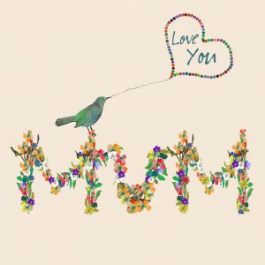 1802 Little Bird Mum Card