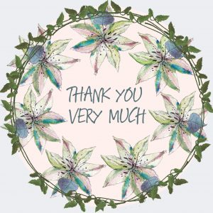 1820 Floral Thank You
