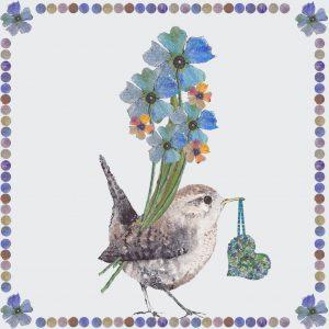1843 Wren with Flowers