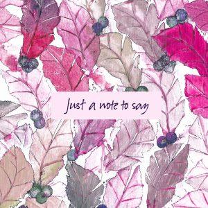 1849 Pink Leaf Note