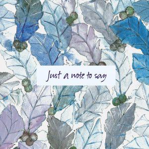 1852 Blue Leaf Note