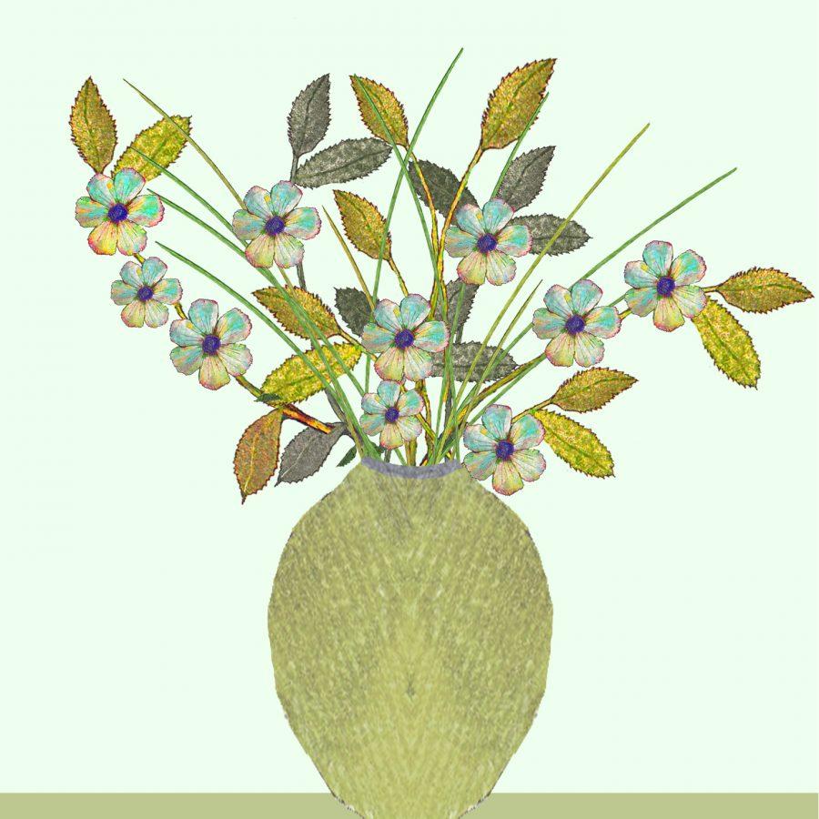 2036 Golden Vase